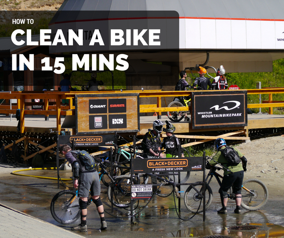 how to clean bike gnc