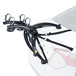 Saris 805 Bones 2-Bike Or 3-Bike Trunk Mount Rack w/ 4 Wheel Stabilizer Straps