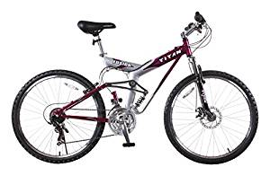 TITAN Fusion Pro 21-Speed Mountain Bike, Alloy-