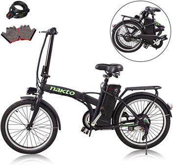 "Flagup 26"" Full Suspension Folding Electric Mountain Bike"
