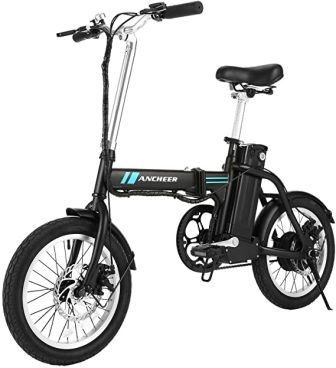 Sheepfun Electric Folding Mountain Bike with 26″ Wheel